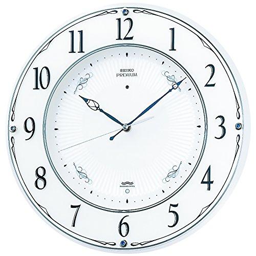 SEIKO CLOCK (セイコークロック) 掛け時計 プレミアム 電波時計 ツイン・パ スワロフスキー・クリスタル飾り LS230W