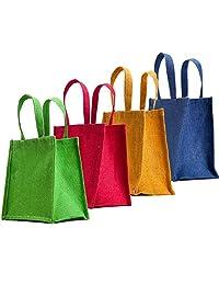 "WMM Craft Classic Jute Tote/Jute Best Combo Jute Gift Bag,Set Of 4,8""x8""x5.5"""