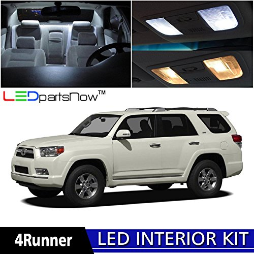 LEDpartsNow Toyota 4Runner 2003-2016 Xenon White Premium LED Interior Lights Package Kit (18 Pieces) + Install Tool