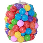 """Each Well Pack Of 100 Pcs Mini 2.16""""/5.5cm Colorful Soft Plastic Ocean Ball For Ball Pit Fun Ball Baby Kid Toy..."""