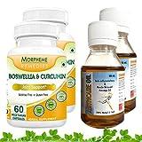 Morpheme Boswellia Curcumin Plus + Arthcare Oil For Joint Support (2 Combo Pack)