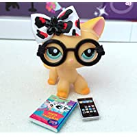 Littlest Pet Shop Accessories Glasses Phone Bow Book *Lps Cat Not Included