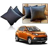 Car Vastra Cushion Pillow Set Black Color For Car & Home For - Mahindra KUV 100