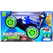 Planet Of Toys Remote Control R/C Lightning Wheels 360 Degree Rotation Stunt Car (Blue) (with Music And Lights)