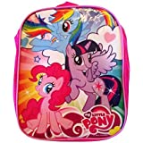 My Little Pony 10 Inch Mini Backpack In Hot Pink With Rainbow Dash, Twilight Sparkle, And Pinkie Pie