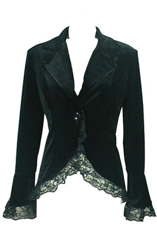 Steampunk Jackets Chic Star Black Gothic Corset Jacket $59.99 AT vintagedancer.com