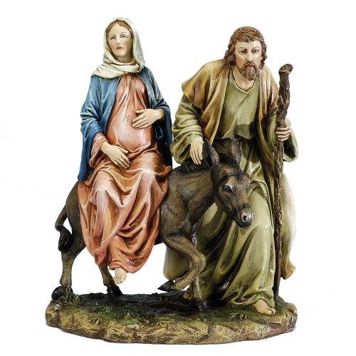 """Josephs Studio 10"""" La Posada """"The Lodging"""" Figure-Joseph With Mary Riding On Donkey On Their Way To Bethlehem"""