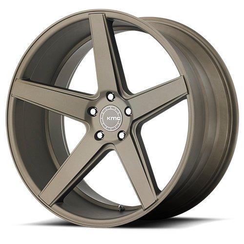 One KMC Matte Bronze KM685 District Wheel/Rim – 19×9.5 – 5×114.3 – +42mm