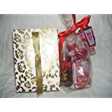 Bath & Body Works Amber Blush Travel Size Mist Body Lotion Shower Get Hand Santizer With Holder In Gift Bag