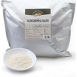 Golden Peanut Flohsamenschalen 95% Reinheit, geprüfte Lebensmittelqualität 1 kg Beutel