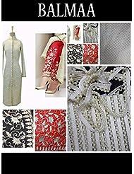 Mastani Kreation Beige Jacquard Embroidered Unstitched Dress Material - B019I8KJHI