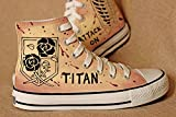 Attack on Titan Shingeki No Kyojin Cosplay Shoes Canvas Shoes Hand-painted Recon Corps + Stationed Corps