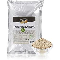 Golden Peanut Flohsamenschalen Pulver 95% fein gemahlen, geprüfte Lebensmittelqualität, 500g Beutel