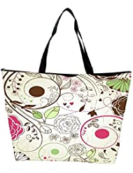 Snoogg Retro Floral Background Waterproof Bag Made Of High Strength Nylon