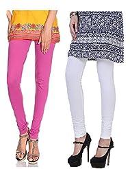 Style Acquainted People Women's Cotton Leggings (Pack Of 2) - B015J87LU4