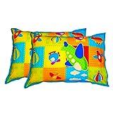 "Swayam Kids N More Digitally Printed Mercerised Cotton Standard Pillow Cover - 18""x28"", Multicolor"
