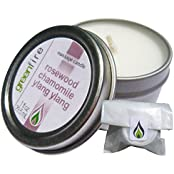 Greenfire Rosewood Chamomile Ylang Ylang All Natural Massage Oil Candle (Size: 1 Fluid Ounce)