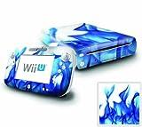 Nintendo Wii U Console and GamePad Decal skin Sticker – Blue Flame