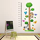 DeStudio Tree With Size Chart, Multi Color, Wall Stickers (Wall Covering Area : 90cm X 120cm)-12280