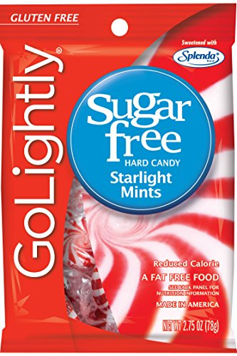 GoLightly Sugar Free Starlight Mints, 2.75-Ounce Bags (Pack of 12)