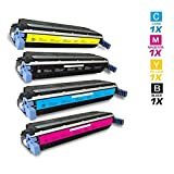AZ Supplies Re-Manufactured Replacement Toner Cartridges For HP 645A HP 5500 4 Color Set (Black Cyan Magenta Yellow...