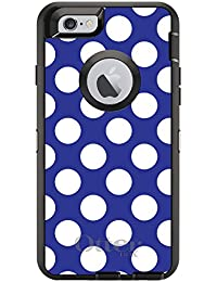 CUSTOM Black OtterBox Defender Series Case For Apple IPhone 6 Plus 6S Plus 5.5 Model - White Red Polka Dots W - B00VMSMAUC