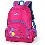 TOFINE Hit Color Packable Nylon Backpack Adjustable Straps Hot Pink 25L