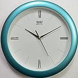 Ajanta (Oreva) Quartz Plastic Round Shape Roman Numbers 30 Cm X 30 Cm Fancy Premium Home Decor Wall Clock (Blue) For Home And Office