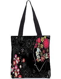 Snoogg Flower Girl Digitally Printed Utility Tote Bag Handbag Made Of Poly Canvas