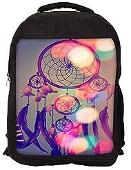 Snoogg Dream Catcher Digital Backpack Rucksack School Travel Unisex Casual Canvas Bag Bookbag Satchel