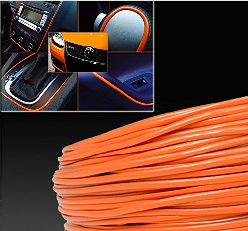 10Meter 3D DIY Automobile Car motor Interior Exterior Decoration Moulding Trim Strip line Sticker-Orange