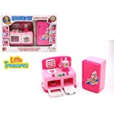 Mini Kitchen Appliance Play Toy Set For Kids With Stove Oven And Fridge With Small Gadgets Included