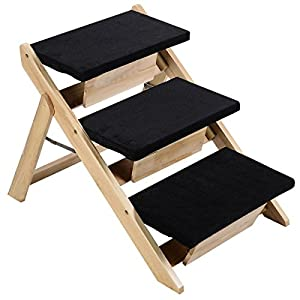 Giantex Folding Wooden Pet Ramp & Stairs Portable Dog Cat
