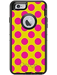 CUSTOM Black OtterBox Defender Series Case For Apple IPhone 6 Plus 6S Plus 5.5 Model - White Red Polka Dots Y