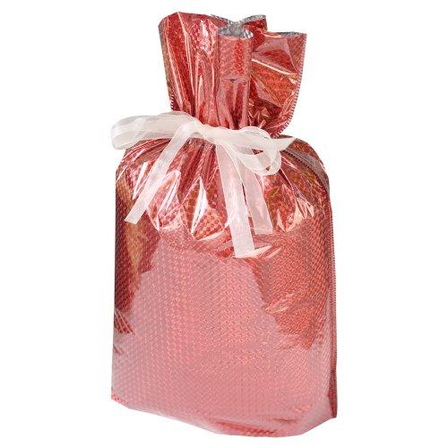 6-Piece Drawstring Gift Bags, Medium, Diamond Red