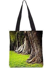 Snoogg Huge Tress Digitally Printed Utility Tote Bag Handbag Made Of Poly Canvas