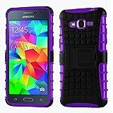 Case For Galaxy Grand Prime, Cruzerlite Hybrid Tough Rugged Armor Case For Samsung Galaxy Grand Prime - Black/...