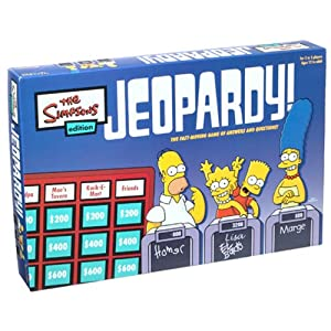 Click to buy Jeopardy! board game: Simpsons edition from Amazon!