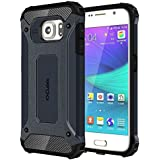 Cubix Impact Hybrid Armor Defender Case For Samsung Galaxy S6 (Navy Blue)