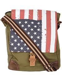 Unisex Messenger Bag Designed By OLFA In Cotton Canvas -Biking Bag -Military Green-Shoulder Bag
