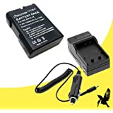 Halcyon 1400 MAH Lithium Ion Replacement Battery And Charger Kit For Nikon EN-EL14 And Nikon D3100 Nikon D3200 Nikon D5100 Nikon D5200 Coolpix P7000 Coolpix P7100 Coolpix P7700 Digital Cameras