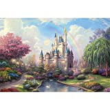 Mutong Toys Adult 1000-piece Puzzle Ink Painting Style Wooden Jigsaw Puzzles ST006-Dream Castle