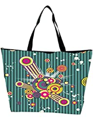 Snoogg Colorful Pattern Amazed Designer Waterproof Bag Made Of High Strength Nylon - B01I1KMBRA