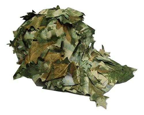 枯葉 迷彩 ベースボール ギリー  キャップ 偽枯葉付 茶 緑 系色