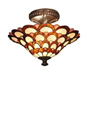 Dale Tiffany Peacock Semi Flush-Mount Fixture