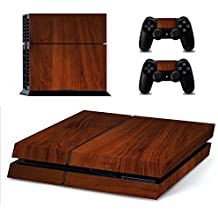 Elton Wooden Theme Skin Sticker Cover For Ps4 Console And Controllers