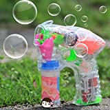 Generic Electric Bubble Gun Toy Fully-automatic Bubble Water Gun Music Bubble Machine Bubble Wand