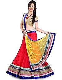 Arawins Women's Ethnic Clothing Ret Net Lehenga Choli For Party Wear Latest Designs In Girls Ghagra Chaniya Choli...