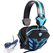 COSONIC Breathing LED Back Light Wired 3.5mm Over Ear Cracked Stereo Gaming Headset