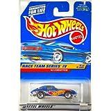 1997 - Mattel - Hot Wheels - Race Team Series IV - 1963 Corvette Split Window - Blue - #4 Of 4 Cars